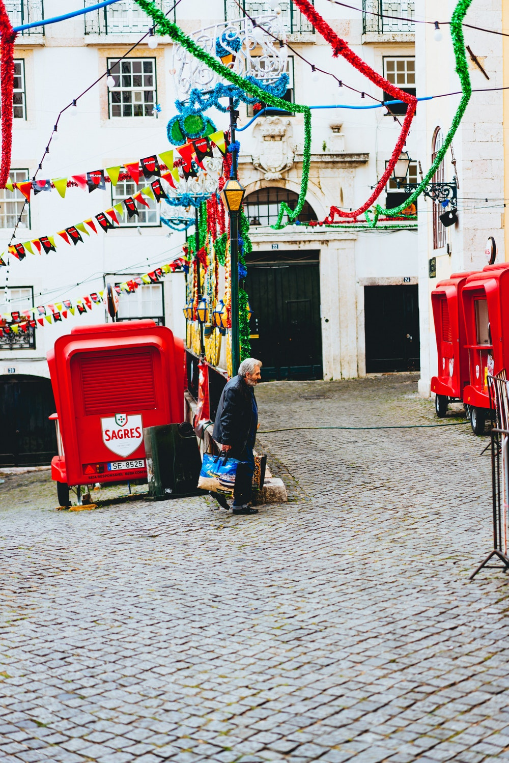 Alfama district ready for the festival of Saint Anthony in Lisbon, Portugal
