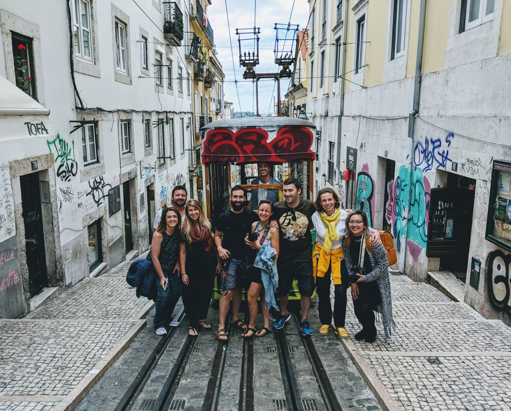 We got to enjoy Lisbon's historic streets and viewpoints with new friends! Our Remote Year x @halfhalftravel meetup featured a photo walk through Bairro Alto and the Alfama.