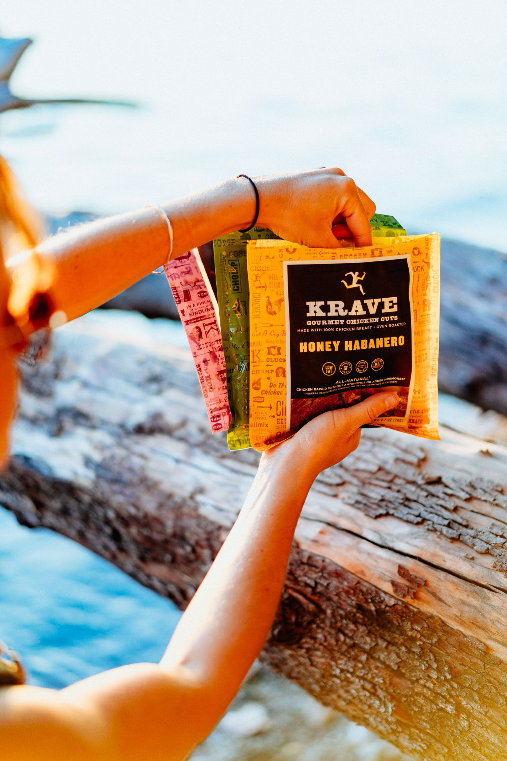 Krave Beef jerky at sunset