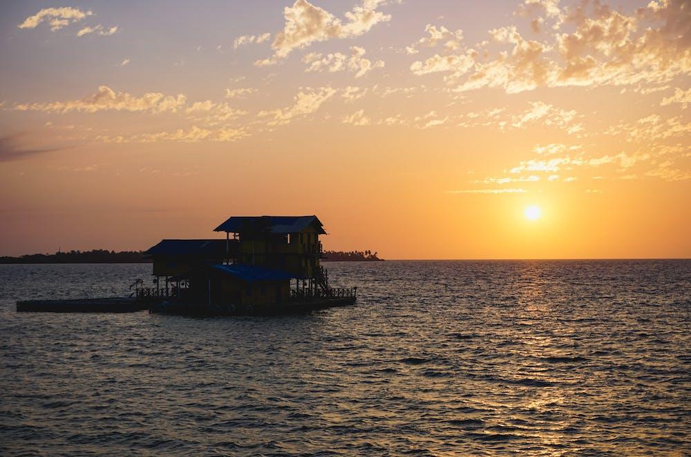Sunset from Casa En El Agua in Cartagena, Colombia