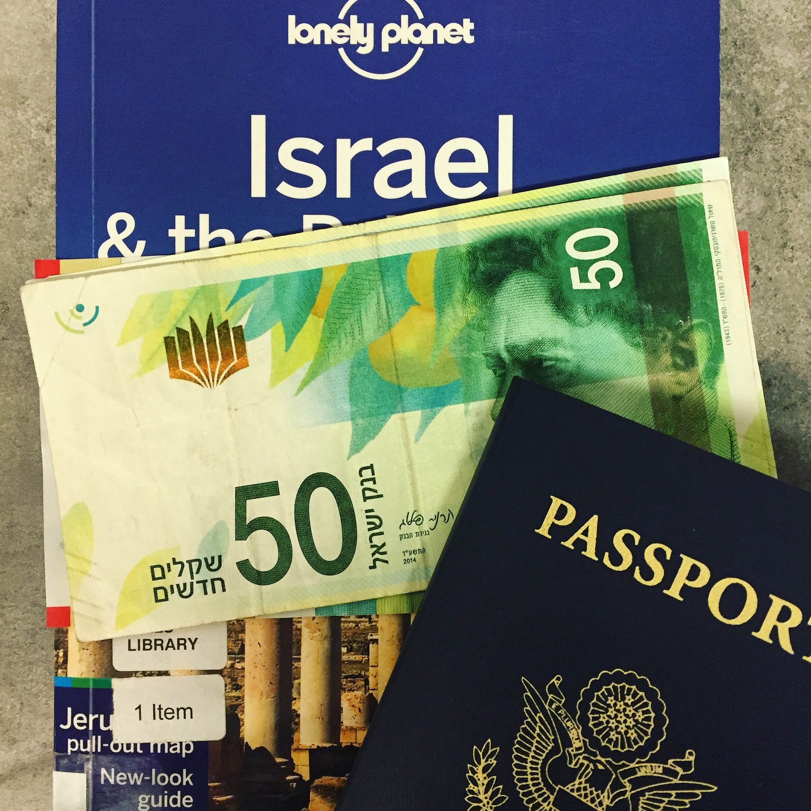 USA Passport with money from Israel