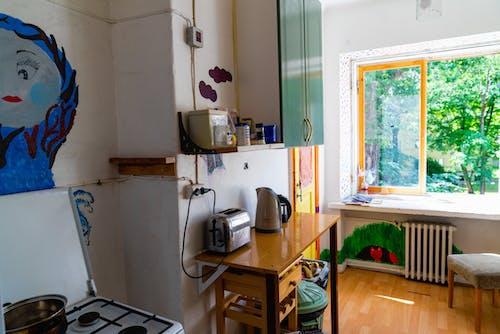 Hostel mutfak görünümü ortak yemek pişirme alanı bir hostelde konaklama