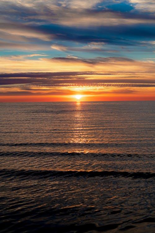 Gökkuşağı günbatımı renkleri güneş ayarı
