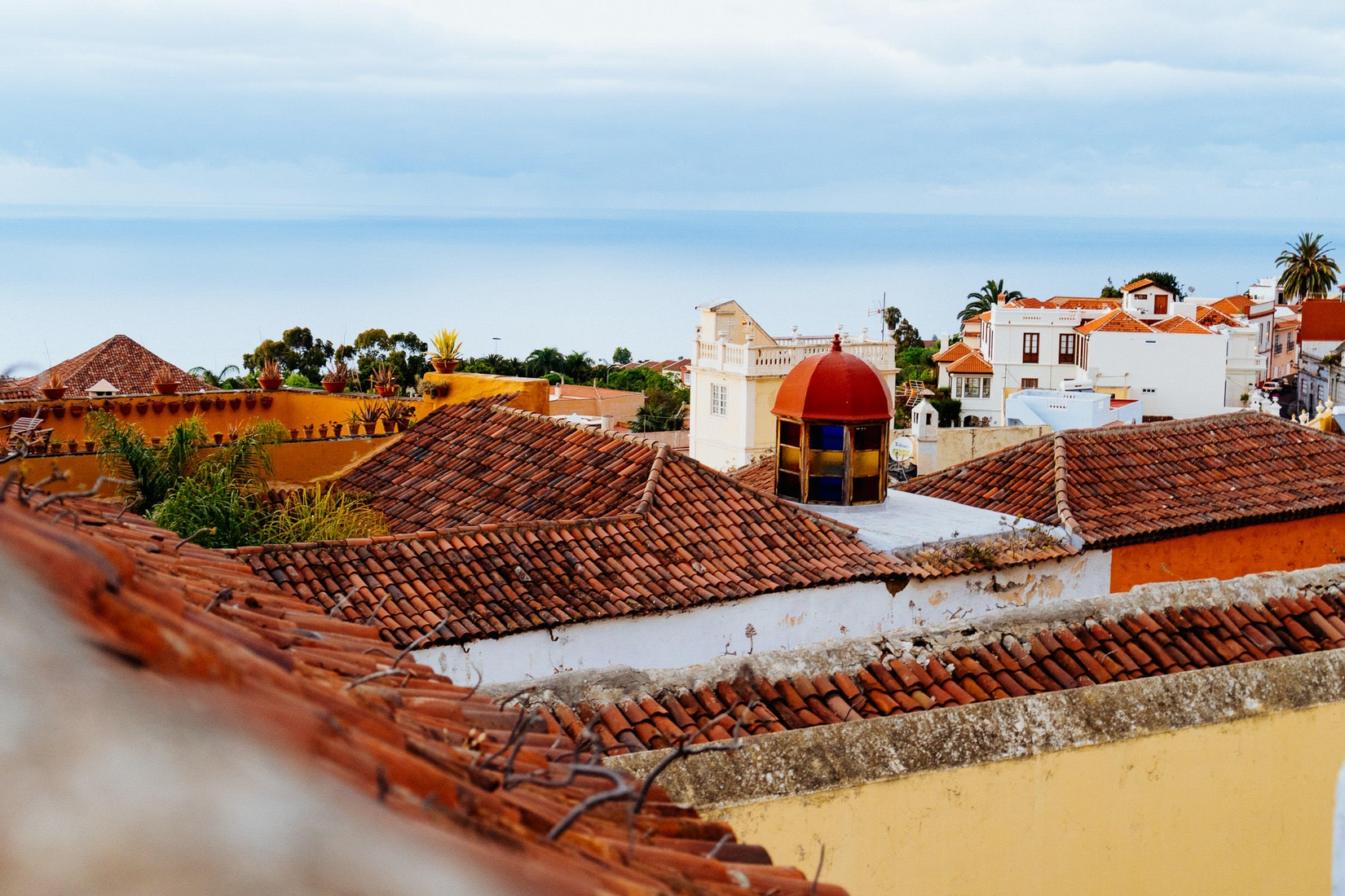 Looking over la Orotava from a roof