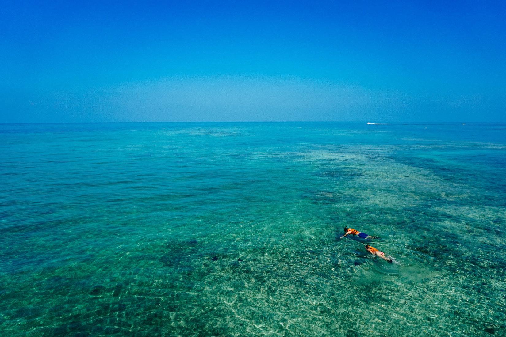 Looking off an ocean of Cartagena