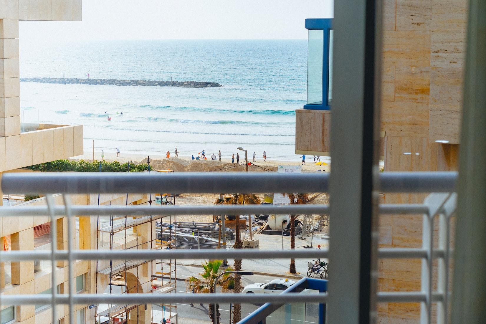 View of a beach in Tel Aviv, Israel