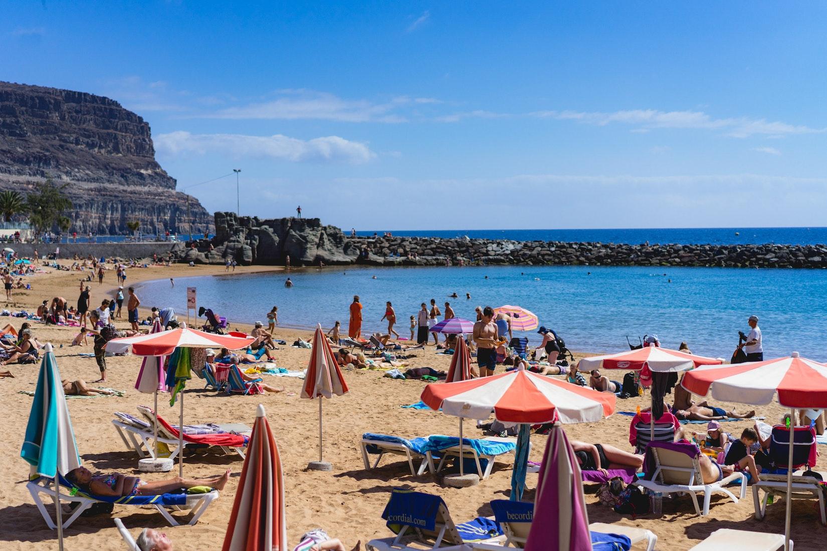 The beach of Puerto de Mogan