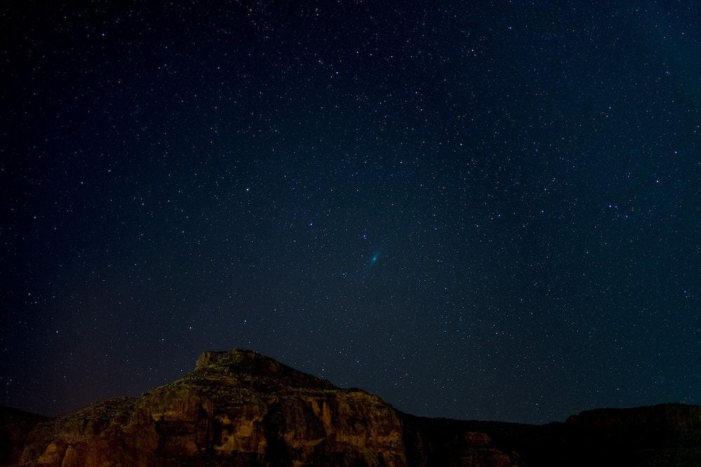 The dark night sky in Tenteniguada