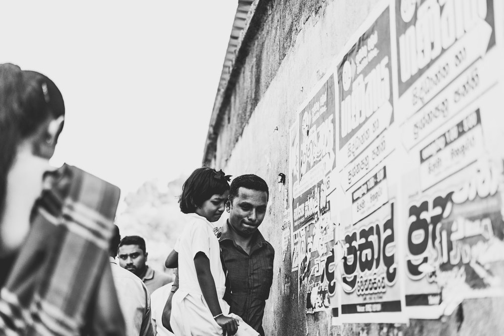 On the streets of Sri Lanka