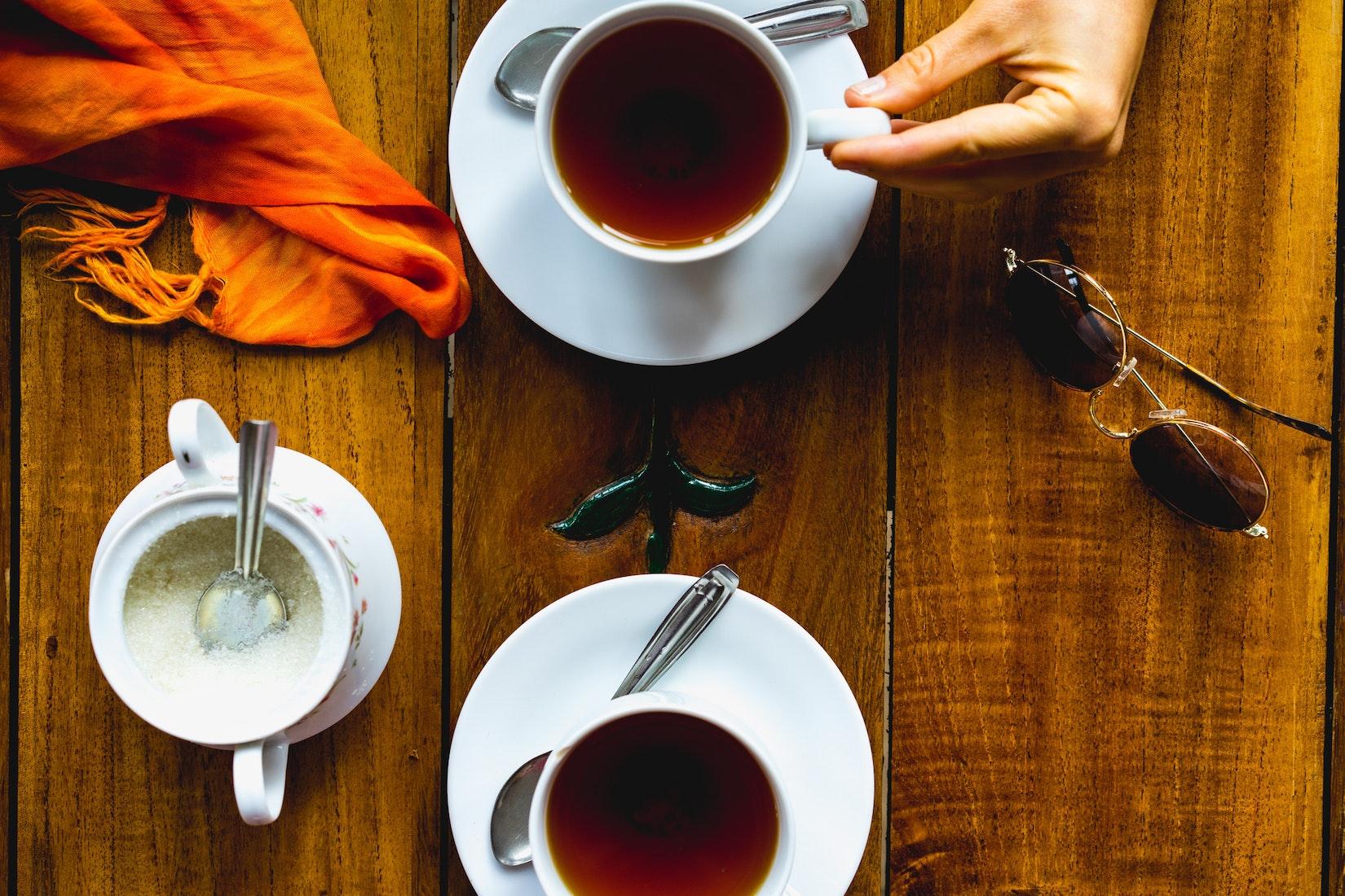 Tea tasting at Macwoods