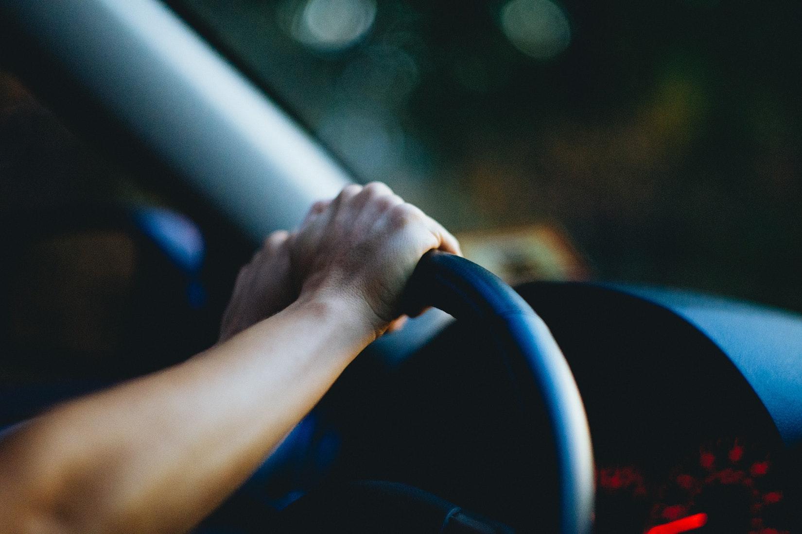 Becca driving at night
