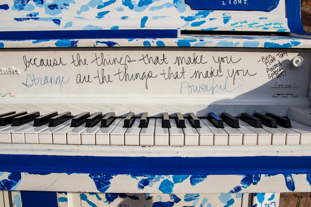 Old piano in Beacon, New York