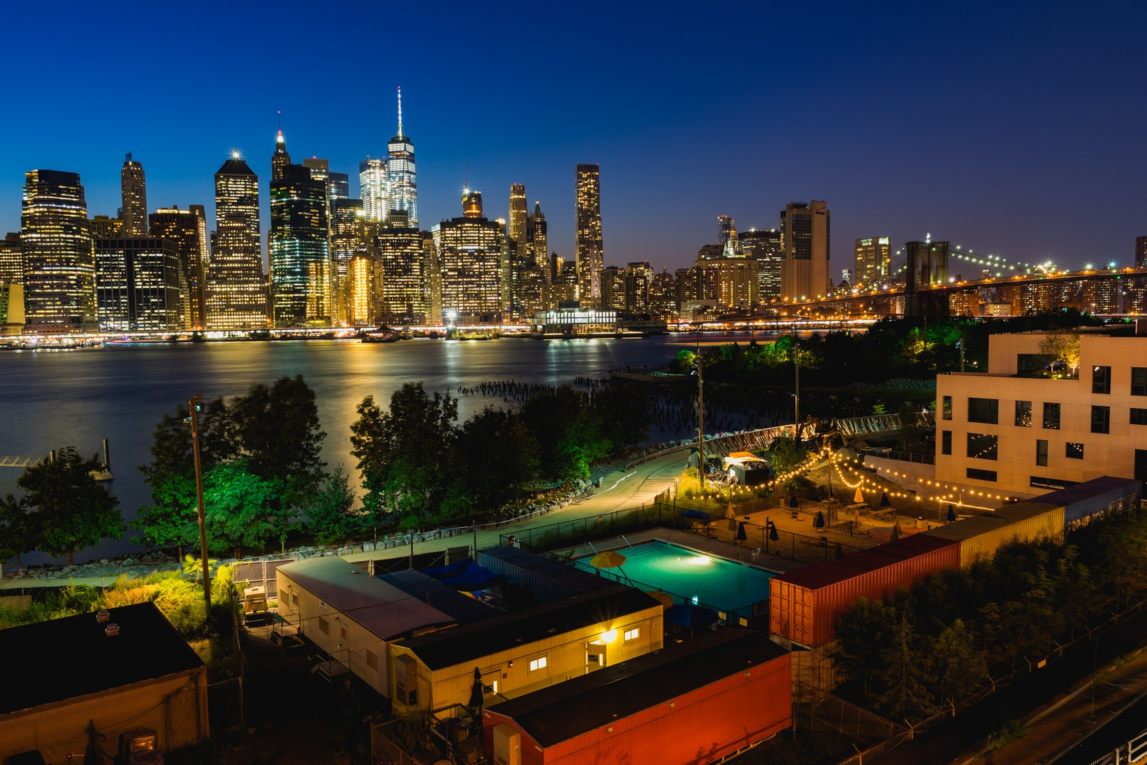 Brooklyn Bridge Park from above