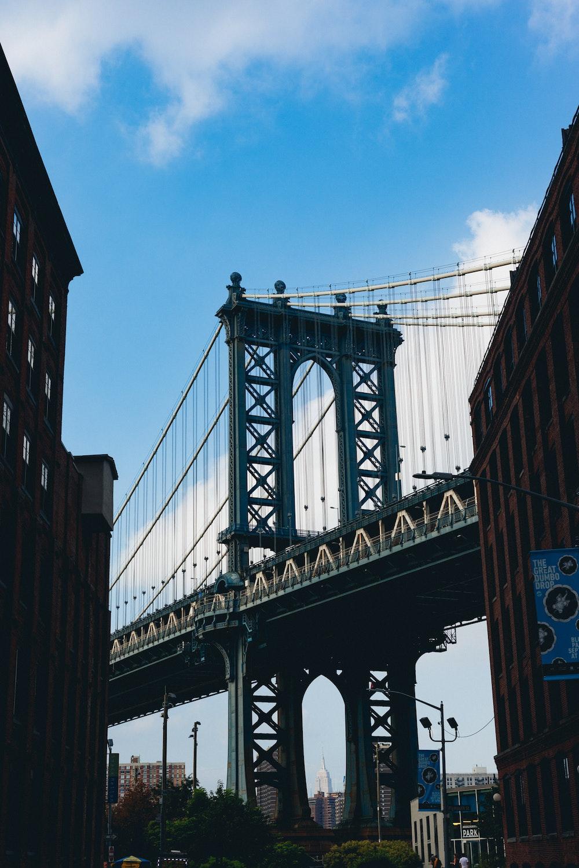 The Manhattan Bridge viewed from Dumbo